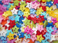 50 x STAR 2 HOLE RESIN SEWING BUTTONS, SCRAPBOOKING, CRAFT ETC.,