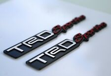 "2x 3D METAL TRD Sportivo Emblem Decal Toyota Racing Development Sticker 7"" x 1"""