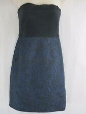 TIBI EPSTEIN Blue Strapless Mini Dress Size 4   c1