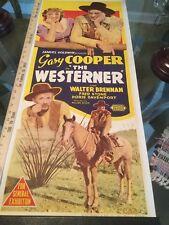 The Westerner Gary Cooper 1940 Insert On Linen!