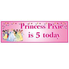 Princess/Fairies Theme Birthday, Child Party Banner