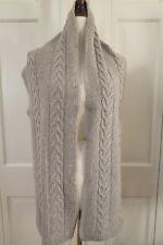 Classic Portolano Cable Knit Cashmere Scarf – Grey – NWT - $225