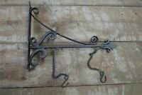 Antique style wrought iron sign board hanging bracket shop sign house name RHB1
