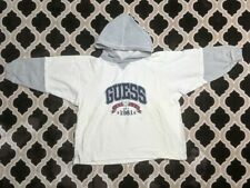 VTG 90s Guess Jeans Sportswear Spellout Logo Pullover T-Shirt Hoodie M 12-14