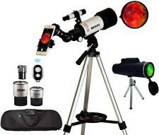 Astronomical Telescopes Travel Monocular Telescope Scope 70mm Aperture 400mm Az