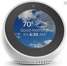 NEW! Amazon Echo Spot White with Alexa Voice Smart Assistant LCD Touchscreen