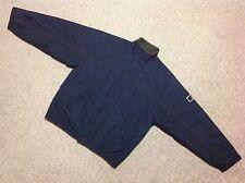 Vintage Fred Perry Sportswear Fleece Forrado Chaqueta en Azul Marino Talla grande