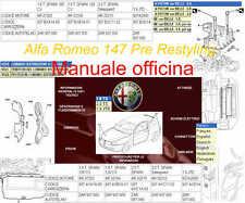 Manuale d'officina manutenzione riparazione Alfa Romeo 147 WORKSHOP MANUAL DTE