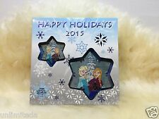 Disney Frozen Elsa Anna Happy Holidays 2015 Passholder Pin & Ornament Set LE 500