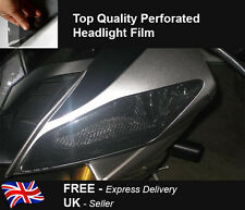 Motorbike Headlight Tail Light Windscreen Cover Protector Vinyl Mesh Tint Film