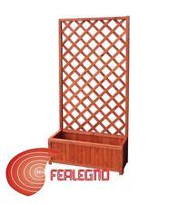 FIORIERA CON PANNELLO GRIGLIATO RETTANGOLARE 90X40X180CM IN LEGNO ART.8435
