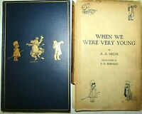 1924 WHEN WE WERE VERY YOUNG A.A MILNE 1ST EDITION 5TH ISSUE DJ WINNIE THE POOH