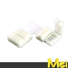 R035 connettore a L  per strisce LED 10 mm RGB  5050 senza saldature facilissimo