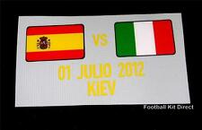 Official Spain vs Italy Euro 2012 Football Shirt Match Detail Flag Player Issue