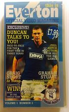 Rare This Is Everton Official Video Magazine Vol 1 No 3 Free UK Delivery