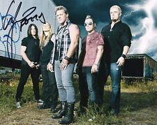 Chris Jericho of Fozzy Autographed 8x10 Photo (1)