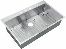 Starstar Top-mount / Drop In Stainless Steel Single Bowl Kitchen Sink With Grid
