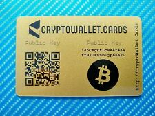 Pack of 5 - BITCOIN / BTC Cryptocurrency Storage Wallet Cards / Gift