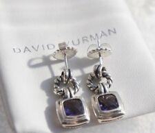 David Yurman 925 Silver PURPLE Amethyst 7mm Petite Albion Renaissance Earrings