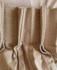 John Lewis MTM Herringbone Double Pinch Pleat Lined Curtains in Blush