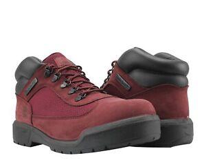 Timberland Waterproof Field Boot Dark Port Burgundy Nubuck Men's Boots A1A2U