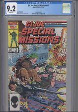 G.I. Joe Special Missions #2 CGC 9.2 1986 Marvel Comics Larry Hama Story