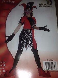 EVIL JESTER FANCY DRESS COSTUME BOOK WEEK PARTY SCHOOL HALLOWEEN