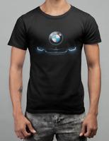 New BMW M Power Logo Moto Auto Black Men's T-Shirt Size S-5XL