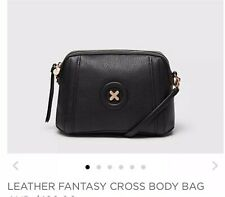 ❤️❤️ NEW RELEASE MIMCO LEATHER FANTASY CROSS BODY HIP BAG ROSE GOLD BLACK ❤️❤️