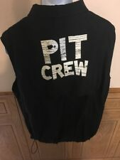Famous Dave's Catering Pit Crew Cut Off Jacket Size XL North End
