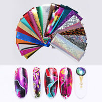 24Pcs Holographic Nail Foils Nail Art Starry Star Transfer Stickers  DIY