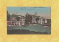 NJ Verona 1933-38 antique postcard WHITEHOUSE HIGH SCHOOL New Jersey to MA