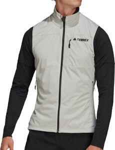 adidas Terrex Agravic XC Soft Shell Mens Running Gilet - Grey