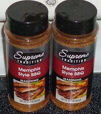 Supreme Tradition Memphis Style Seasoning ; 10.5 oz , EXP 1/ 2022 (2 PACK)