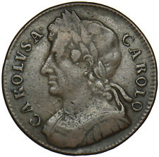More details for 1675 halfpenny - charles ii british copper coin - nice