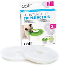Catit Triple Action Cat Water Fountain Filter, 2 Pack