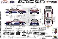 [FFSMC Productions] Decals 1/43 Porsche SCRS Tour de France Auto 1985