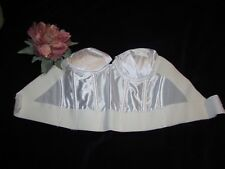 vtg Wonderbra Ivory 36A Longline Removable Push-Up Bra Backless Corset Bustier