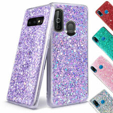 Samsung Galaxy A20 A30 A50 A70 Shockproof Glitter Bling Phone Case Rubber Cover