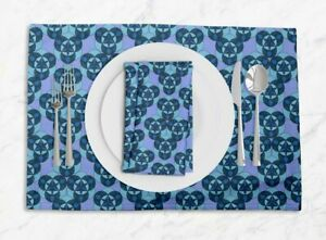 S4Sassy Circle Geometric Everyday Placemats With Napkins Table Decor-GMD-574C