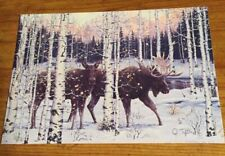 Leanin' Tree Christmas Card - Moose Theme - Inventory #795