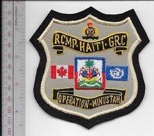 Canada Federal Police Haiti Op MINUSTAH 2004 United Nation Serrvice Appreciation