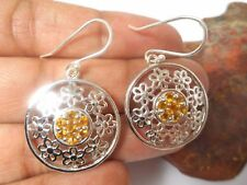 CITRINE  Sterling  Silver  925  Gemstone  Earrings  -  Gift Boxed