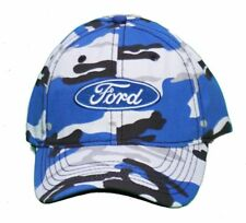 FORD  BLUE WHITE AND BLACK CAMO HAT STRUCTURED HAT