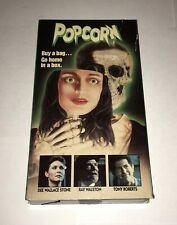 POPCORN - Rare Horror VHS - RCA Columbia Slipcase - 1991 Slasher Cult Gore