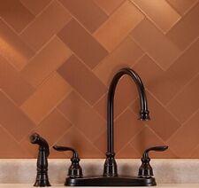 """NOS Vintage Aluminum Backsplash or Bathroom Wall Tile 5/"""" Square Copper Beveled"""