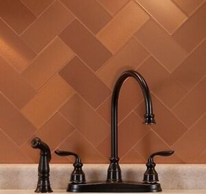 Peel And Stick Tile Copper Self Adhesive Metal Accent Wall Kitchen Backsplash