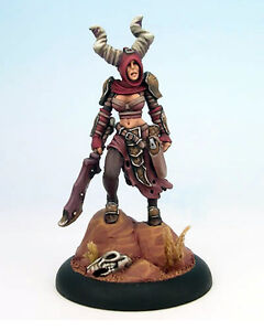 Painted  ~ Jhureen Hecatha, Satyxis Raider Iron Kingdoms painted by Mayne Thiele