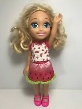 "Barbie Club Chelsea Doll - 14"" Mattel 2015 Watermelon Outfit"