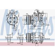 Nissens Kompressor, Klimaanlage Honda Civic Ix,Civic IX Tourer 890195 Honda
